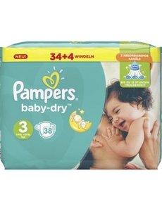 Pampers Pampers Baby Dry Luiers Maat 3 Midi (5-9kg) 38 stuks