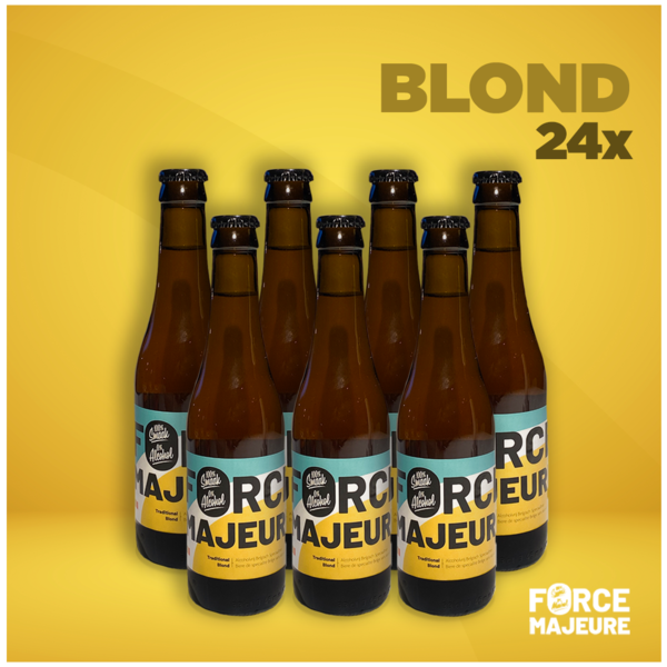 Force Majeure 24 x Force Majeure Traditionnelle blonde 33cl Bière de spécialité sans alcool