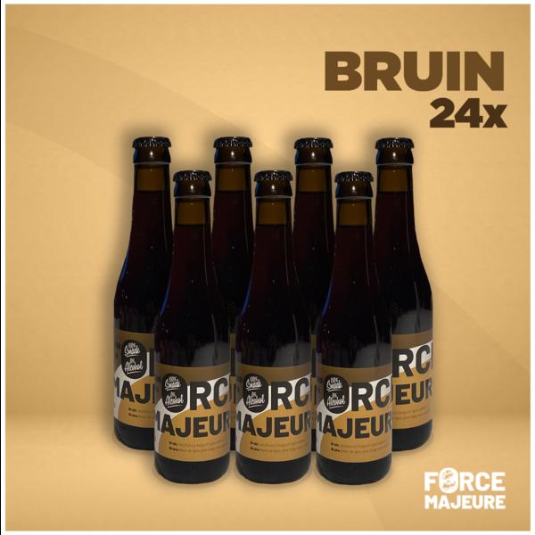 Force Majeure 24 x  Bruin 33cl  Alcholvrij speciaalbier