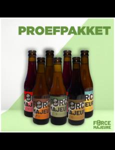 Force Majeure Proefpakket: 3x Tripel, 3x tripel hop, 2xkriek, 2x Blond en 2x bruin