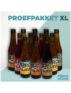 Force Majeure Proefpakket XL: 5x blond, 5x tripel, 5x tripel hop, 5x kriek, 4x bruin