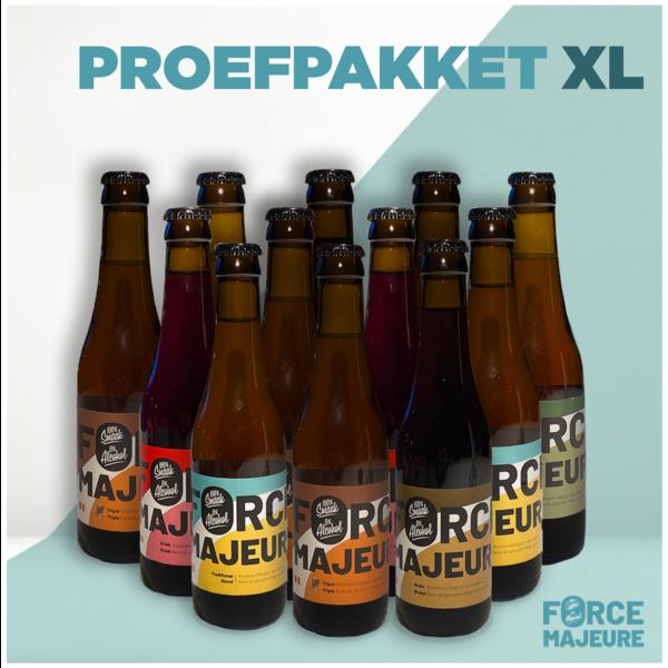 Force Majeure Exemple de paquet XL: 5x blond, 5x triple, 5x triple houblon, 5x cerise, 4x marron