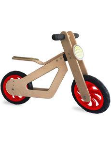 Mamatoyz Houten tweewieler loopfiets Balance Bike - Rode Wielen