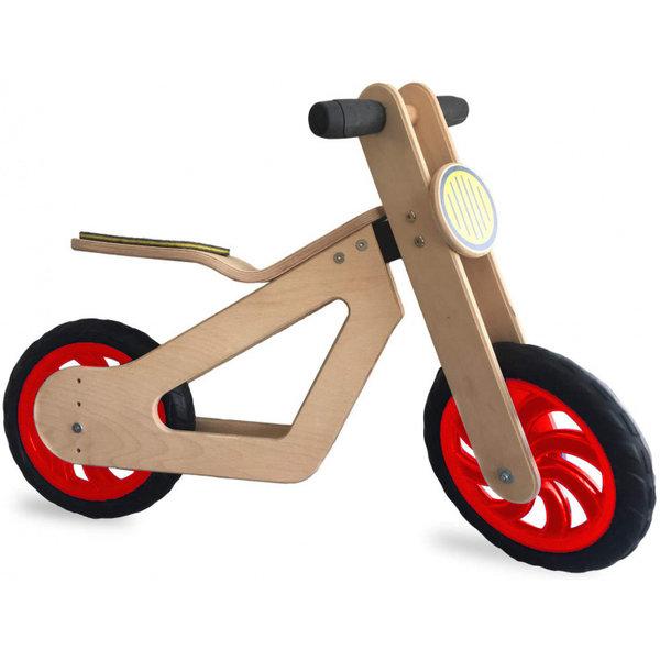 Mamatoyz Draisienne en bois à deux roues Balance Bike - Roues rouges