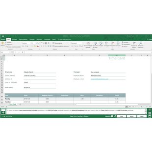Excel 2016 Gmetrix MOS 77-727 test exam