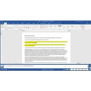 Gmetrix MOS 77-725 Word 2016 proefexamen