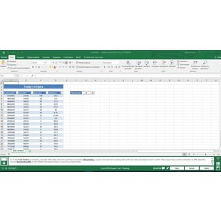 Excel 2016 Gmetrix MOS 77-728 Expert test exam