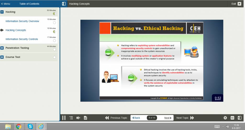 Certified Ethical Hacker CEH E-learning CERTIFIED ETHICAL HACKER (CEH)v10
