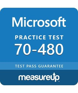 MeasureUp 70-480: Programming in HTML5 with JavaScript and CSS3