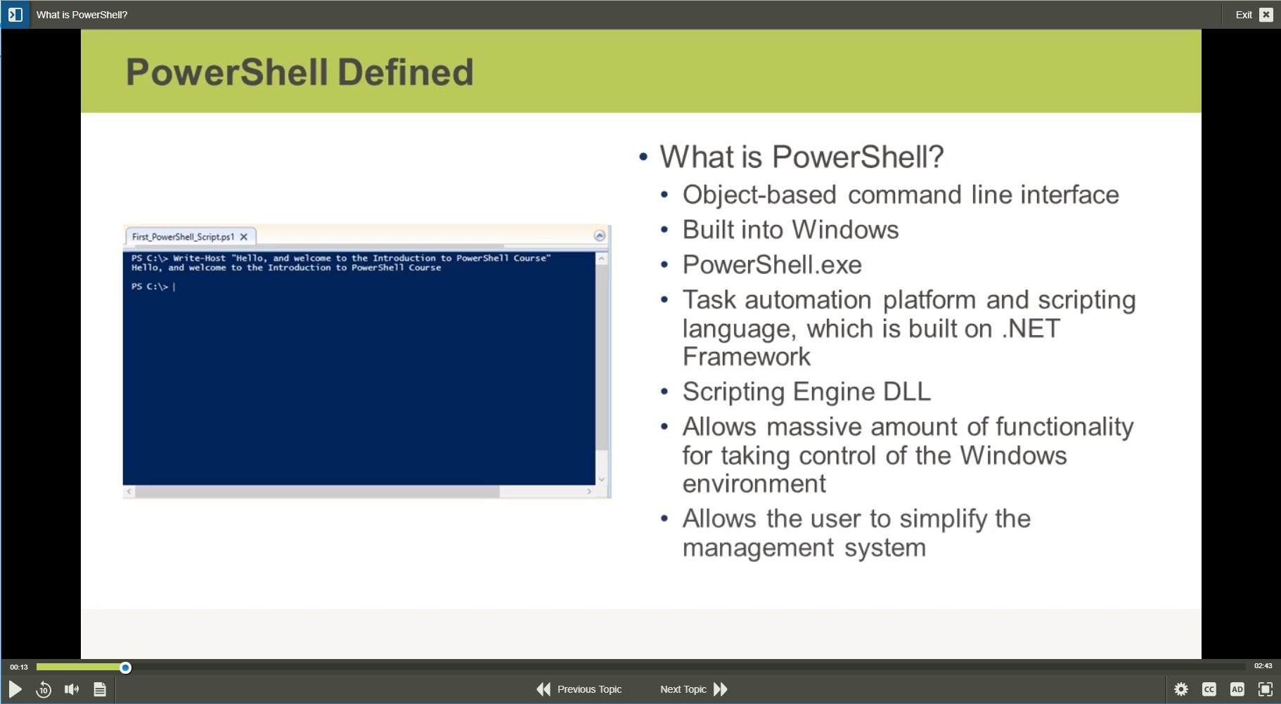 PowerShell PowerShell for Windows Server 2016 Training