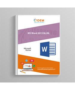 Microsoft Word 2013 Cursusboek