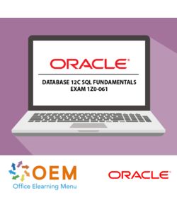 Oracle Database 12c SQL Fundamentals exam 1Z0-061 E-learning