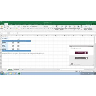 Excel 2016 Basic Advanced Expert E-learning + Book