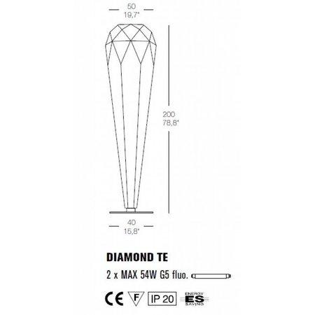 Design Vloerlamp Diamond