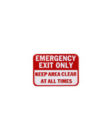 FBS Mini Sign - EMERGENCY EXIT ONLY