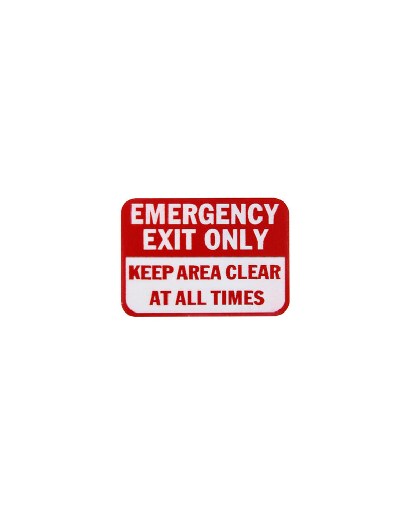 FBS FBS Mini Sign - EMERGENCY EXIT ONLY