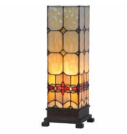 RoMaLux RML9228 Tiffany Tafellamp Kubus