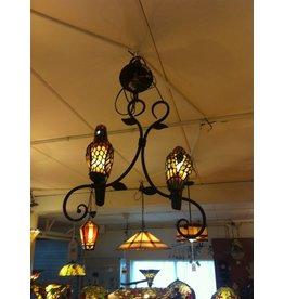 RoMaLux 7528 Tiffany Hanglamp papagaai