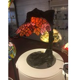 RoMaLux 5301 tiffany lamp reclining lady brons
