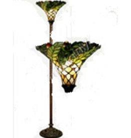RoMaLux 7651 vloerlamp Tiffany