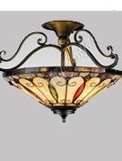 RoMaLux 7660 Tiffany plafondlamp