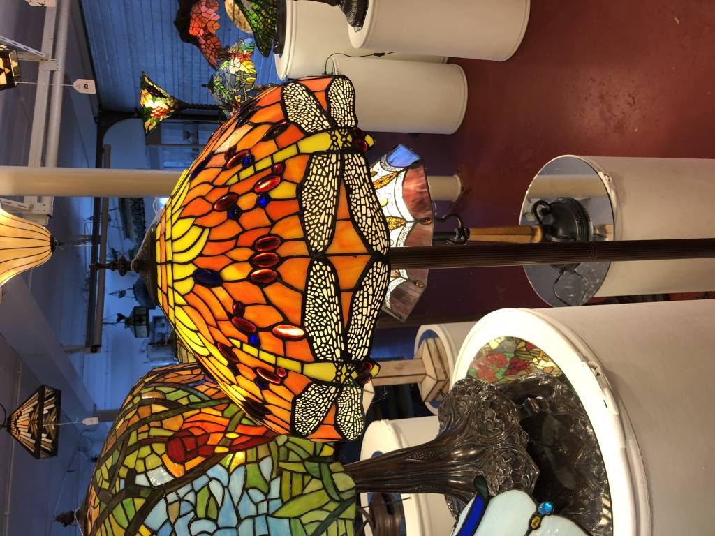 RoMaLux 7626 Tiffany Vloerlamp Libelles