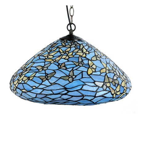 7859 Tiffany Hanglamp Fly Away met vlinders