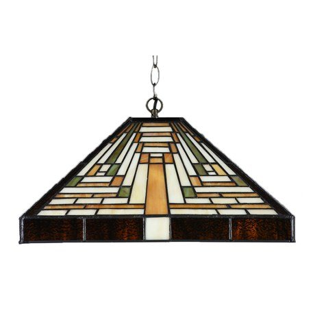 82537913 Tiffany verlengde Plafonnière model Rising Sun Art Deco