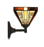 8152 Tiffany wandlamp Rising Sun omhoog of omlaag