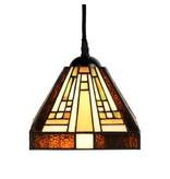 2.82528130R2 Tiffany Hanglamp 2 kap Rising Sun