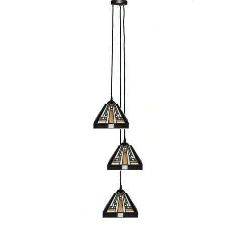 3.82538130R3 Tiffany hanglamp 3 kap Rising Sun