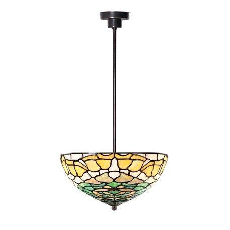 8125 PS Tiffany Hanglamp aan pendel model Campanula Art nouveau stijl