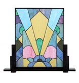 7872 Tiffany Paneel staand Coloured Art Deco