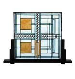 7864 Tiffany Paneel staand Frank Lloyd Wright Geo