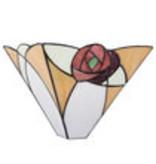 5214 Tiffany Wand lamp met roosjes