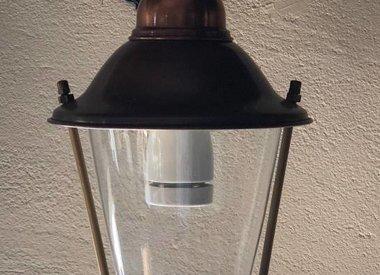 Aluminium en messing buitenlampen