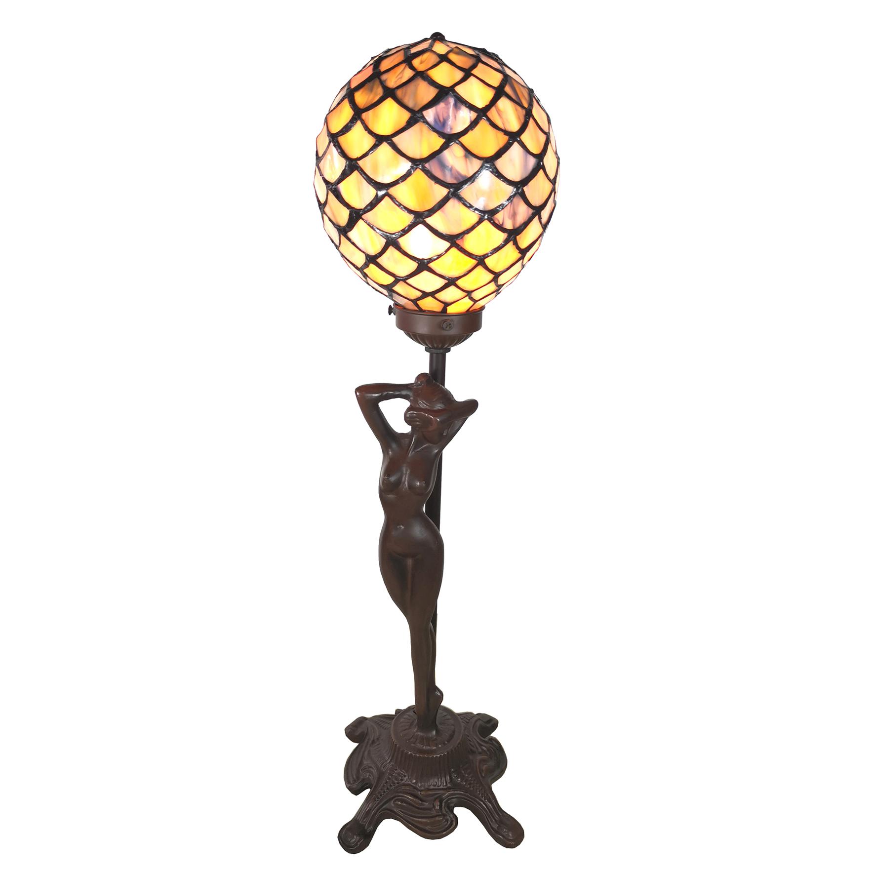L 6024 Vrouw figuur met Tiffany kapje