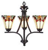 L 5967 Tiffany Hanglamp 3 kapjes