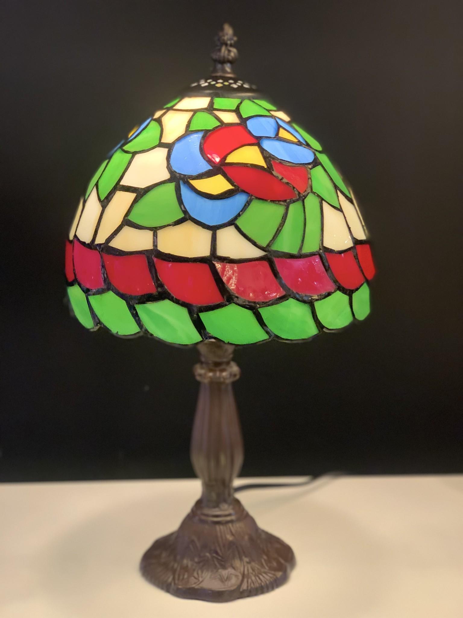 RoMaLux D10094 Tiffany tafellampje