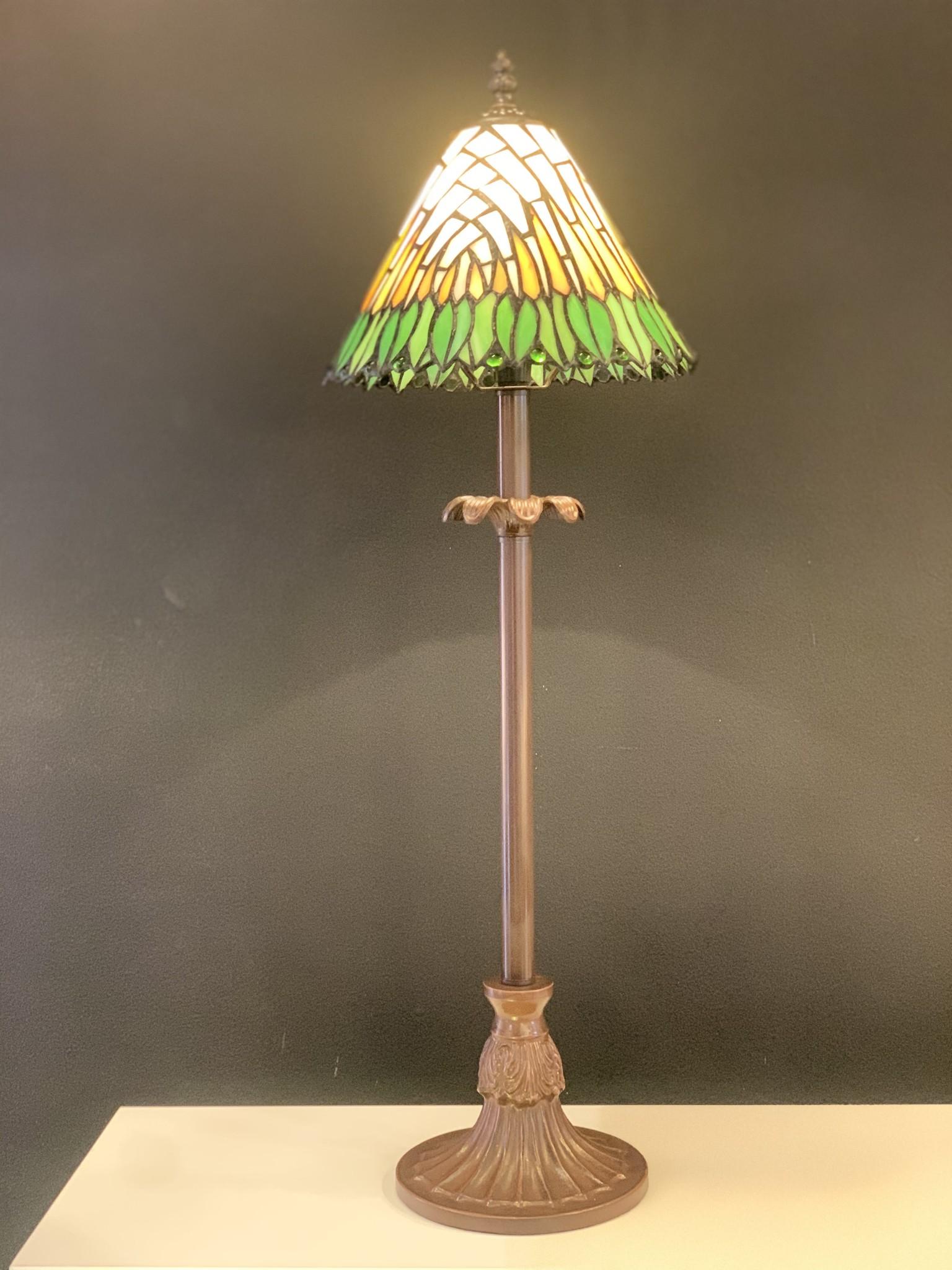 RoMaLux D10095 Tiffany Tafellamp Hoog