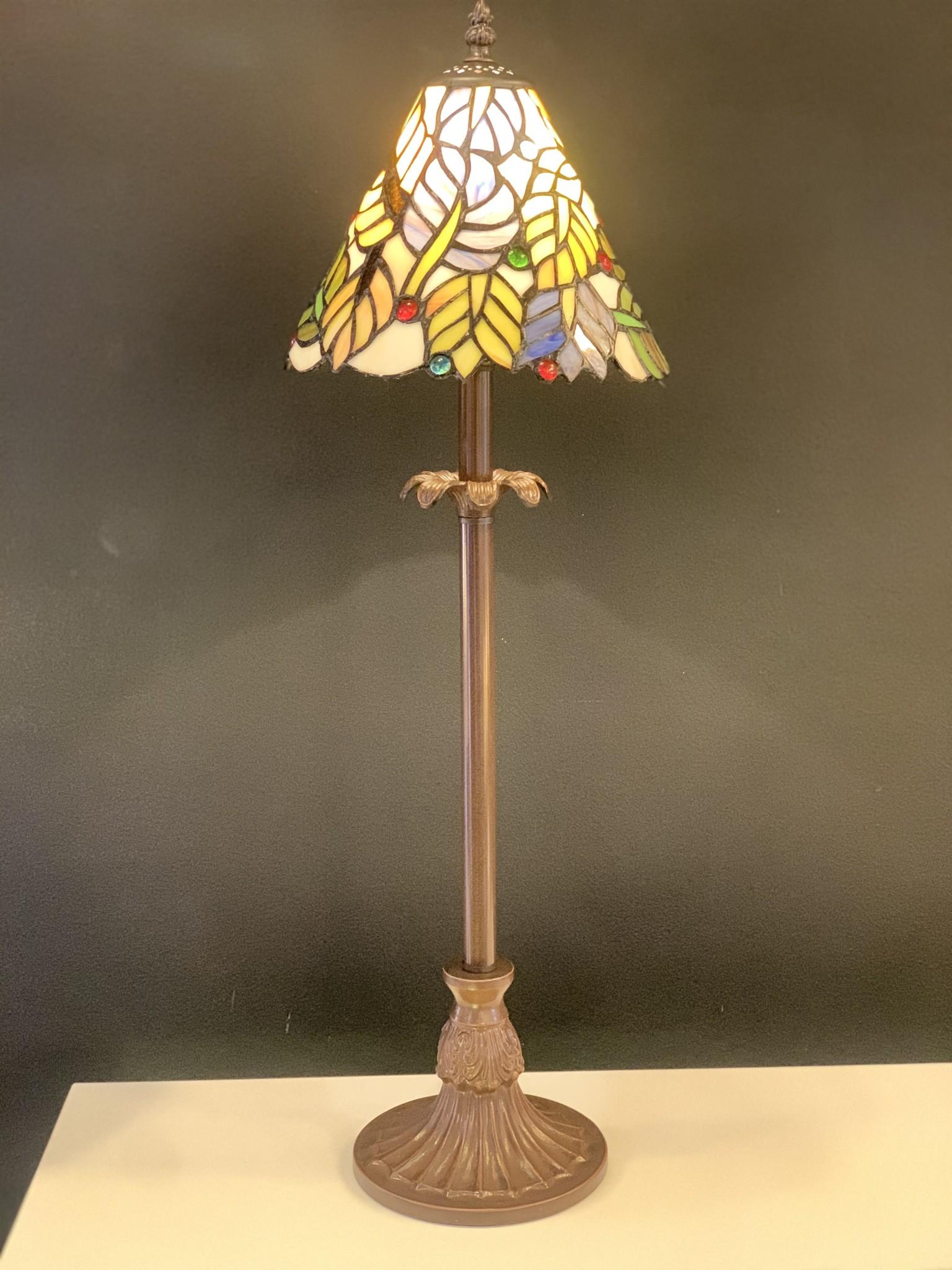 RoMaLux D10096 Tiffany Tafellamp Hoog