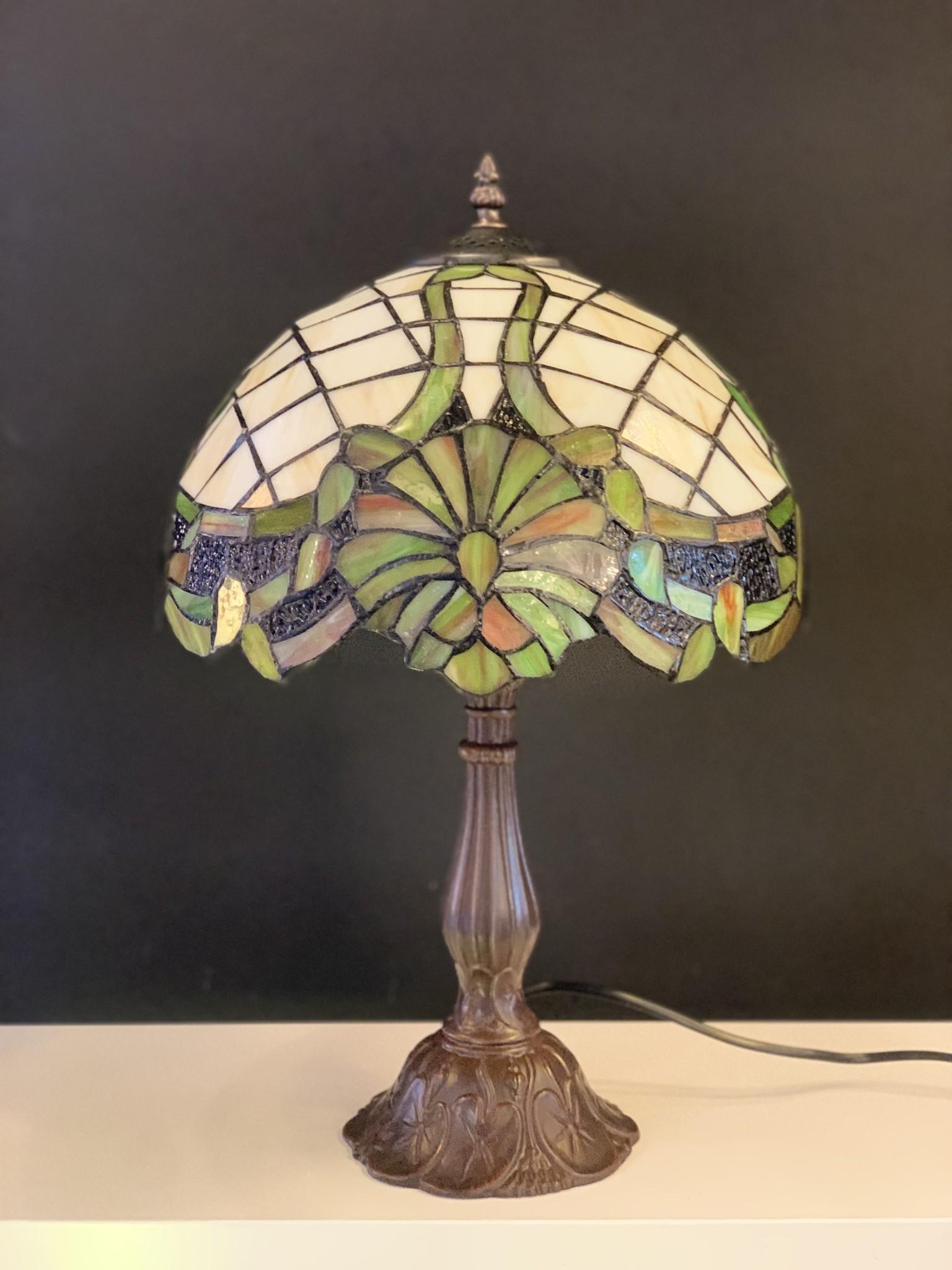 RoMaLux D 10010 Tiffany Tafellamp