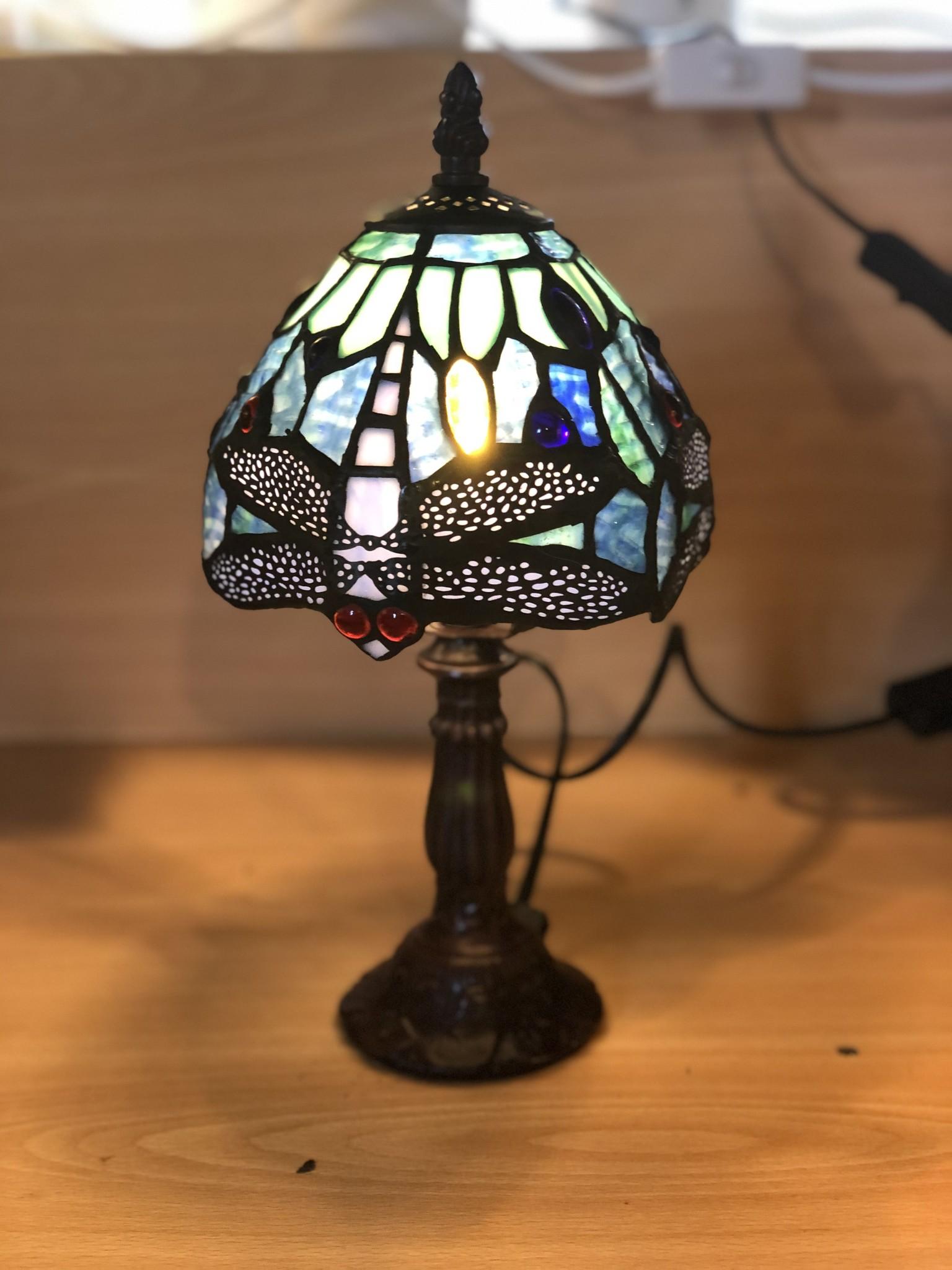 RoMaLux 7222 Tiffany Tafellampje met Libelles