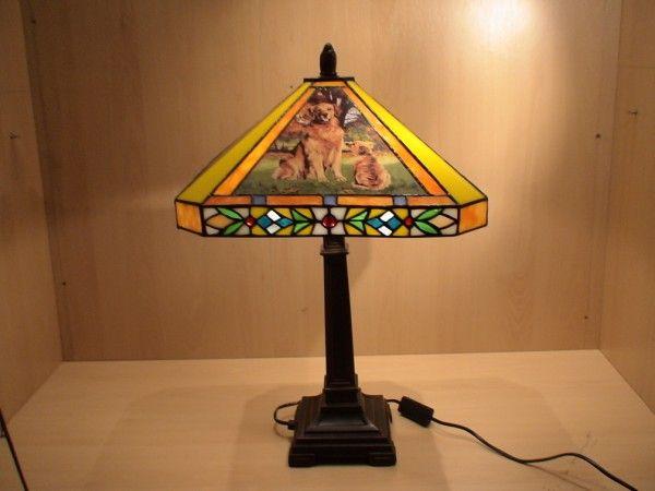 RoMaLux Tiffany tafellamp honden