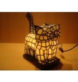 RoMaLux Tiffany tafellamp katten