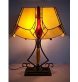 RoMaLux Tiffany Tafellamp met open gewerkte voet