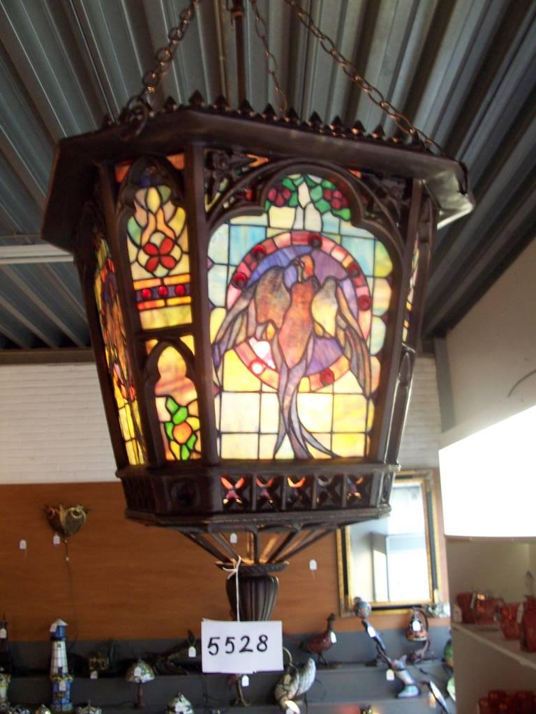 RoMaLux Bronzen Tiffany hanglamp
