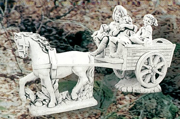 Demmerik 73 A033 Paard + kar+ kindjes met hondje