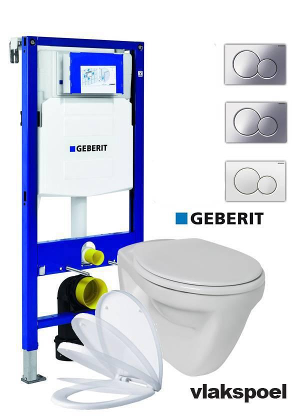 Beste Complete vlakspoel toiletset met Geberit UP 320 reservoir met YL-64