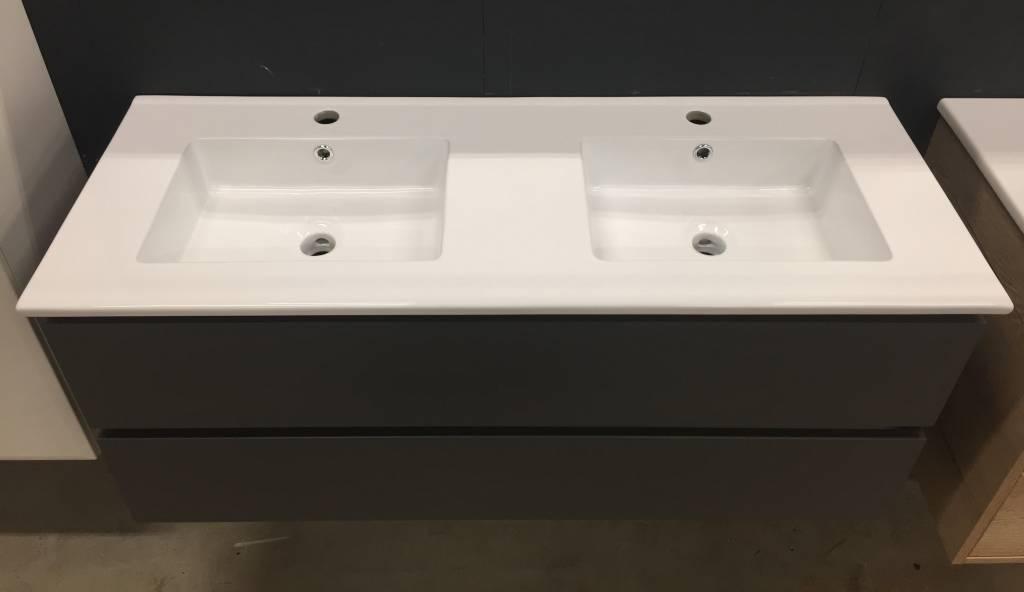 Badkamermeubel Met Badkamerkast : Badmeubel cm breed met dubbele keramische wastafel inclusief